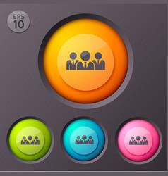 businessmen pictogram buttons background vector image