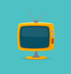 cartoon color retro tv vector image