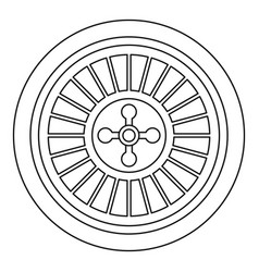 casino wheel icon outline style vector image