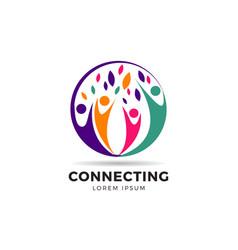 circle colorful community logo symbol vector image