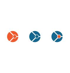 circle techmology logo vector image