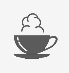 coffe or tea cup with steam cloud icon vector image