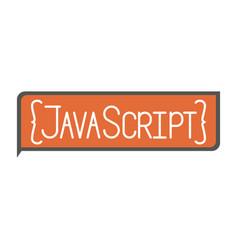 Colorful silhouette rectangle text java script vector