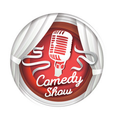 comedy show in paper art vector image
