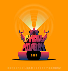 cyber monday sale poster concept vector image