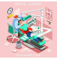 Dental Surgery Isometric People vector