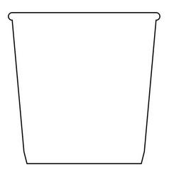 Dustbin or trash basket icon black color vector