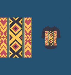Ethnic seamless pattern traditional vector
