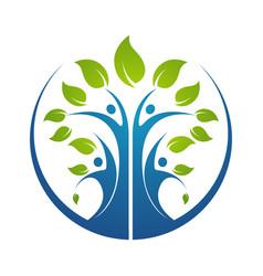 family tree symbol icon logo design template vector image