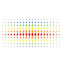 Filled ellipse spectrum halftone effect vector