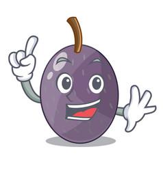 Finger velvet tamarind fruit isolated on mascot vector