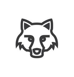 Fox head icon vector