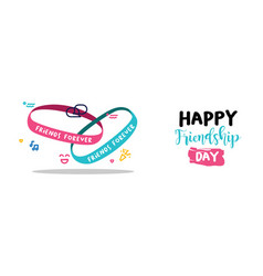 Friendship day friends forever bracelet web banner vector