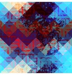 Geometric grunge pattern vector