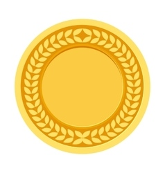 Gold Medal for the champion in the first place vector
