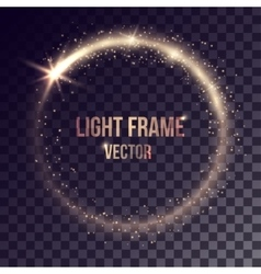 Golden light frame vector