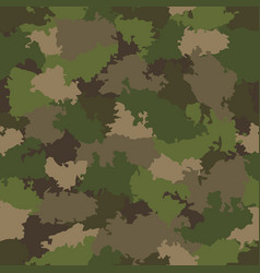 green and brown camouflage seamless pattern vector image