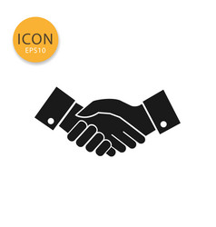 hand shake icon isolated flat style vector image