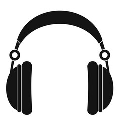 headphones icon simple style vector image