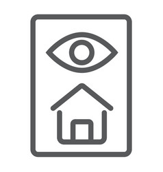 Home inspection line icon real estate and home vector