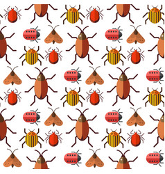 Insects bug seamless pattern bugs insects vector