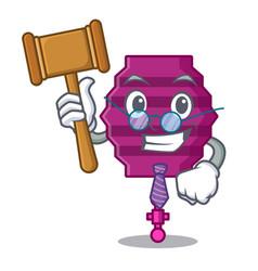 Judge paper lantern mascot cartoon vector