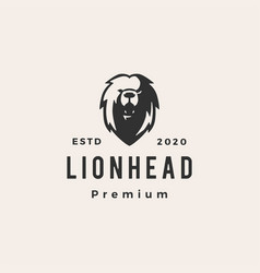 lion head hipster vintage logo icon vector image