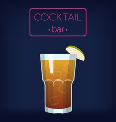 LongIsland Iced Tea Cocktail vector image