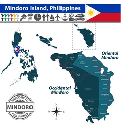 Map of Mindoro island vector image