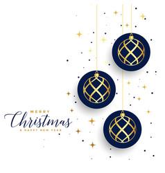 merry christmas white festival card design vector image