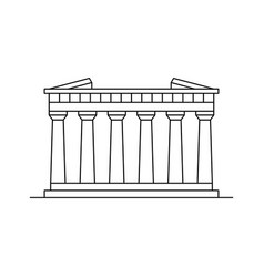 parthenon in athens icon vector image