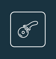 pizza knife icon line symbol premium quality vector image