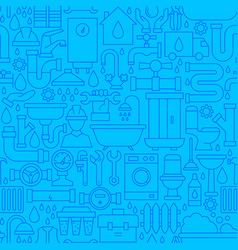 plumbing line seamless pattern vector image