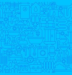 Plumbing line seamless pattern vector