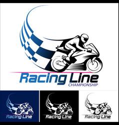 Racing line vector