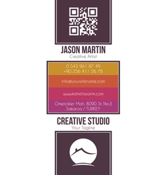 Real estate building business card vector
