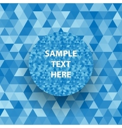 Retro triangle geometric pattern for mosaic banner vector image