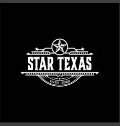 retro vintage western country emblem texas logo vector image