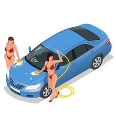 Services car washing Car wash and auto service vector
