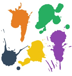 set colorful blots vector image