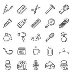 set of barber shop elements vector image