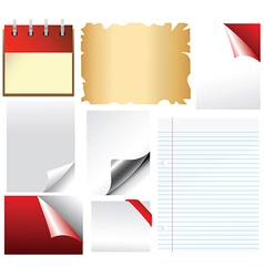 Set of document templates vector image