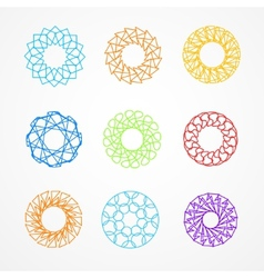 Set of hypster outline emblems and badges vector