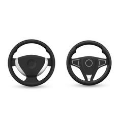 Set realistic steering wheel vector