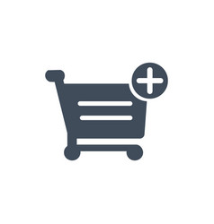 shopping cart add to cart icon purchase isolated vector image