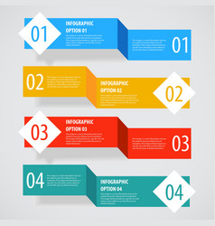Simple abstract infographics options banner vector image
