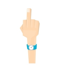 Simple man hand with middle finger vector