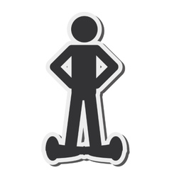 Single person on hoverboard icon vector