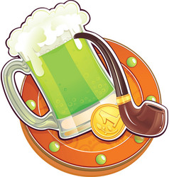 St patrick day symbol the green beer vector