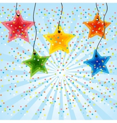 Star holiday background vector image